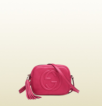 Gucci soho shocking pink leather disco bag