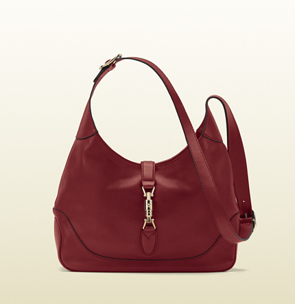Gucci jackie red leather shoulder bag