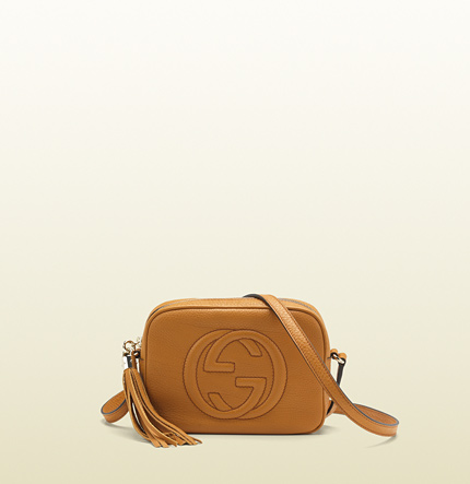 Gucci soho light sunflower leather disco bag