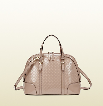 Gucci gucci nice microguccissima patent leather top handle bag