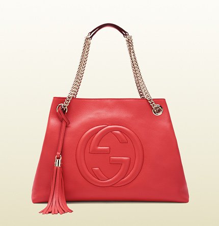 Gucci soho begonia pink leather shoulder bag