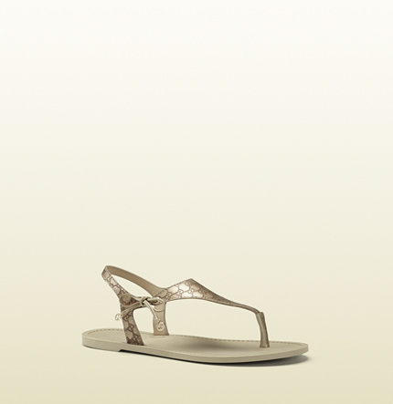 Gucci katina leather thong sandal