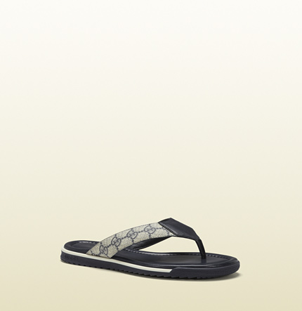 Gucci sl73 beach blue leather thong sandal