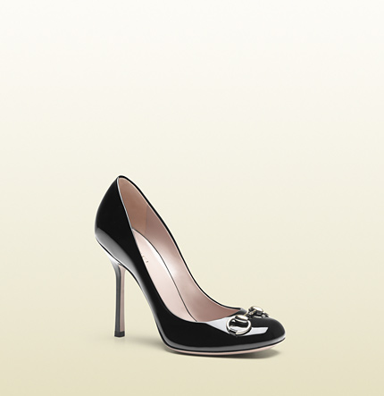 Gucci jolene black patent leather pump