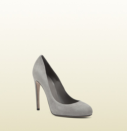Gucci goldie grey suede high heel pump