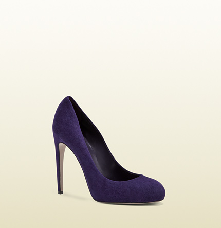 Gucci goldie violet suede high heel pump