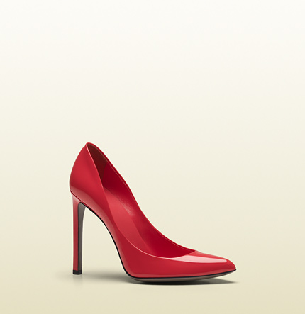 Gucci gloria begonia pink patent leather high heel pump