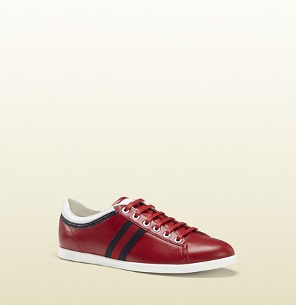 Gucci coda lightweight red leather sneaker