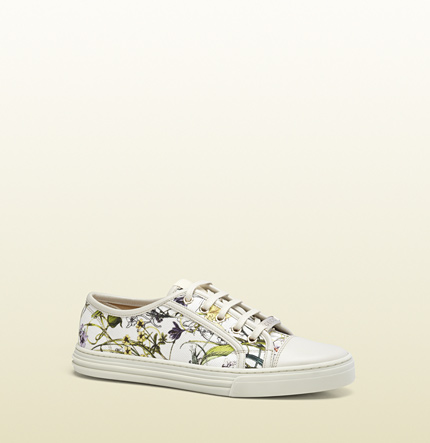 Gucci california low flora canvas low-top sneaker