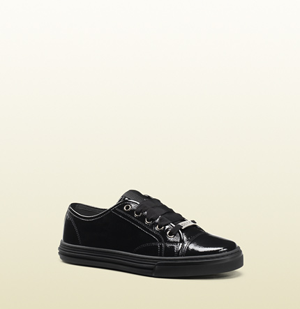 Gucci california low patent leather sneaker