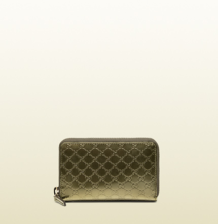Gucci shiny microguccissima card case