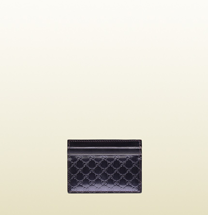 Gucci shiny microguccissima leather card case