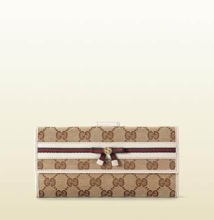 Gucci bow detail continental wallet