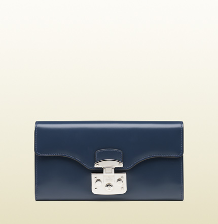 Gucci lady lock leather wallet