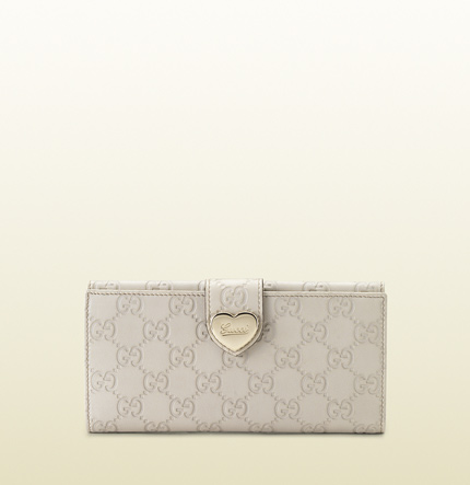 Gucci heart continental wallet