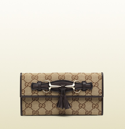 Gucci emily original GG canvas continental wallet