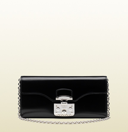 Gucci lady lock leather chain wallet