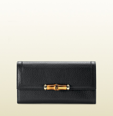 Gucci bamboo detail continental wallet
