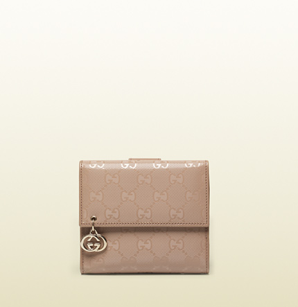 Gucci GG imprimé leather french flap wallet