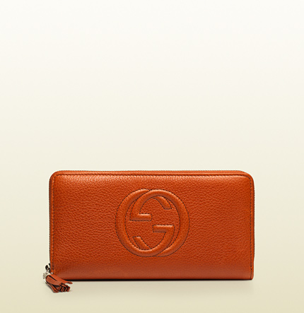 Gucci soho leather zip around wallet