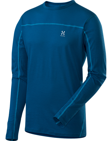 HAGLOFS MEN ACTIVES MERINO ROUNDNECK strato blue
