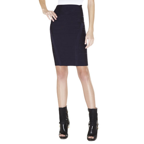 HERVE LEGER CORA BANDAGE SKIRT PACIFIC BLUE