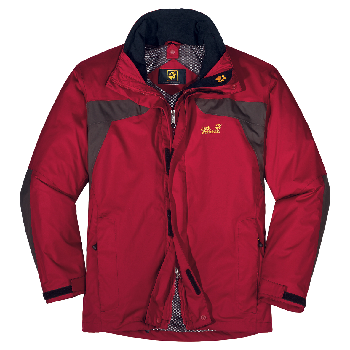 JACK WOLFSKIN MEN TOPAZ JACKET INDIAN RED