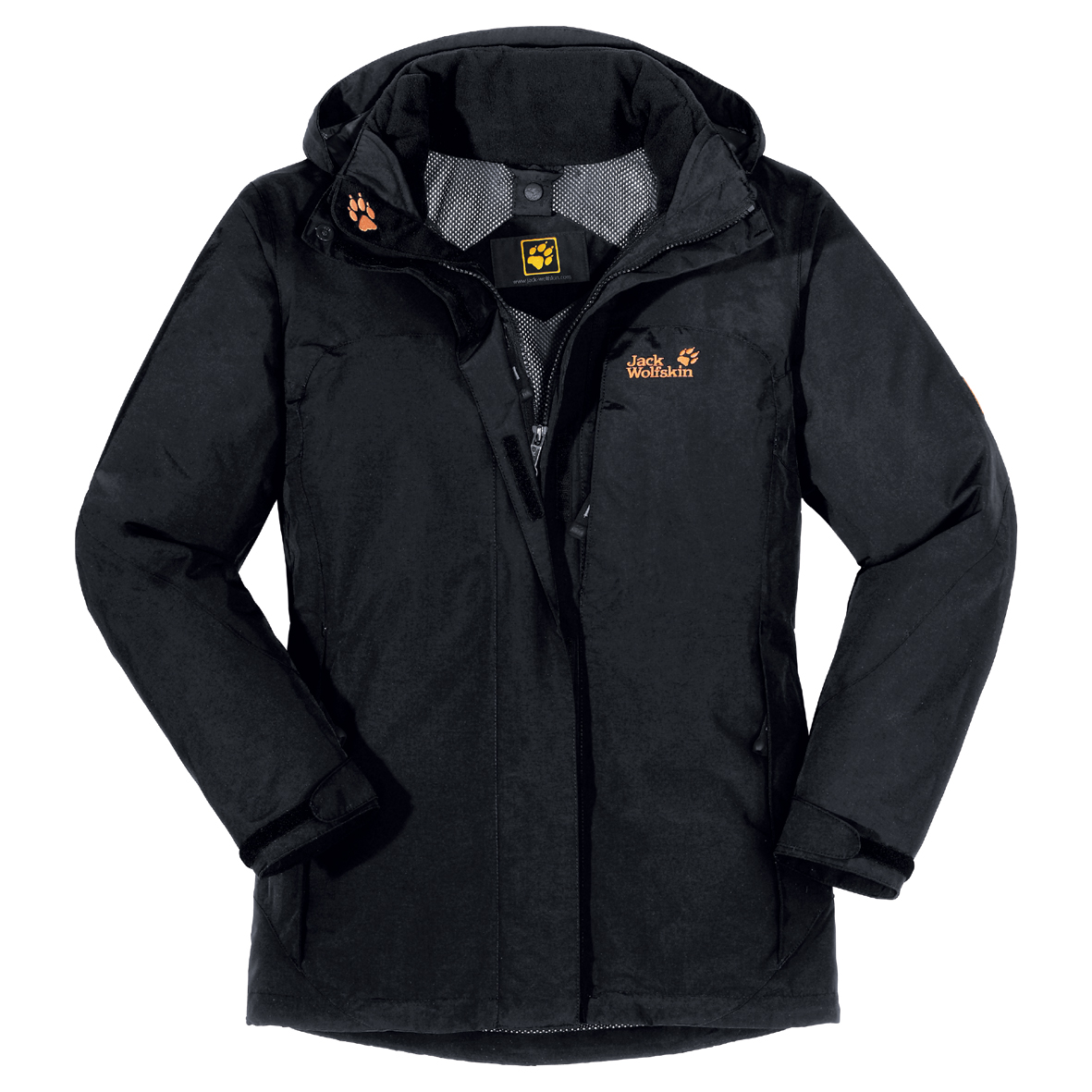 JACK WOLFSKIN WOMEN ELEMENTS XT JACKET BLACK