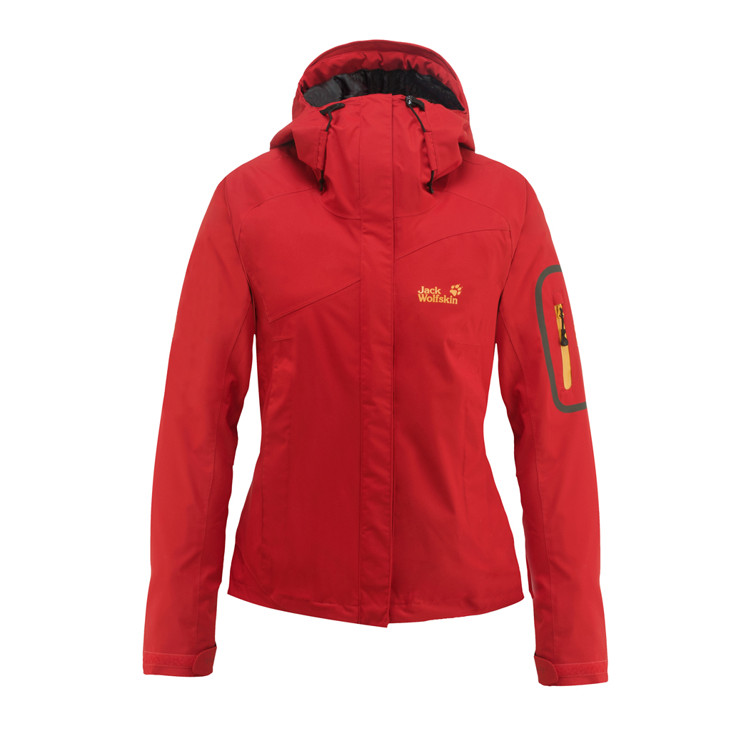 JACK WOLFSKIN WOMEN ASCENT JACKET PEAK RED