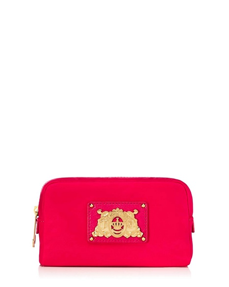 JUICY COUTURE CASE NYLON COSMETIC Hot Pink