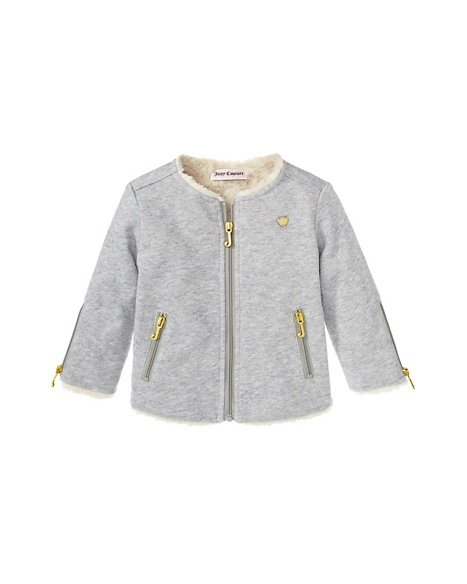 JUICY COUTURE JACKET FRENCH TERRY WITH LUREX Cozy GOLD