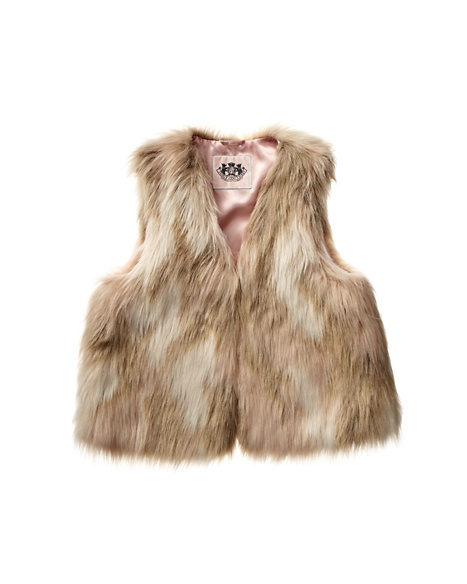 JUICY COUTURE VEST GIRLS FUR Champagne Beige