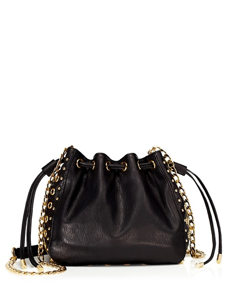 JUICY COUTURE BAG BEDFORD LEATHER MINI BUCKET Black