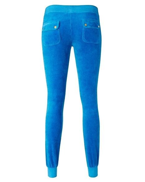 JUICY COUTURE PANT VELOUR MODERN SLIM Island Blue