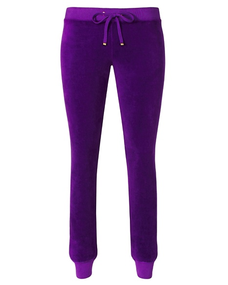 JUICY COUTURE PANT VELOUR MODERN SLIM Cassis