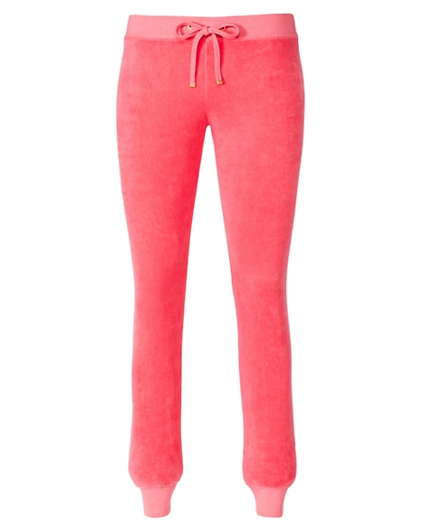 JUICY COUTURE PANT VELOUR MODERN SLIM Ultra Bombshell