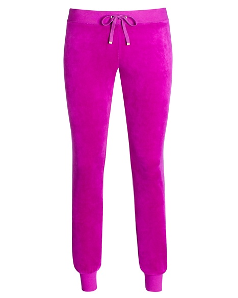 JUICY COUTURE PANT VELOUR MODERN SLIM Crushed Berry
