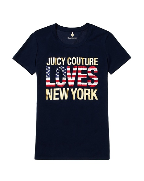 JUICY COUTURE JC LOVES NYC TEE Regal
