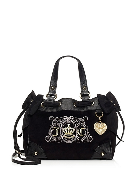 JUICY COUTURE JUICY CREST VELOUR MISS DAYDREAMER Black