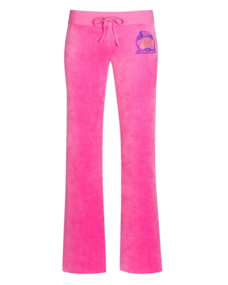 JUICY COUTURE PANT ORIGINAL IN JUICY CREST VELOUR Pink