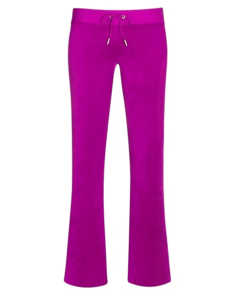 JUICY COUTURE PANT VELOUR BLING ORIGINAL LEG Crushed Berry
