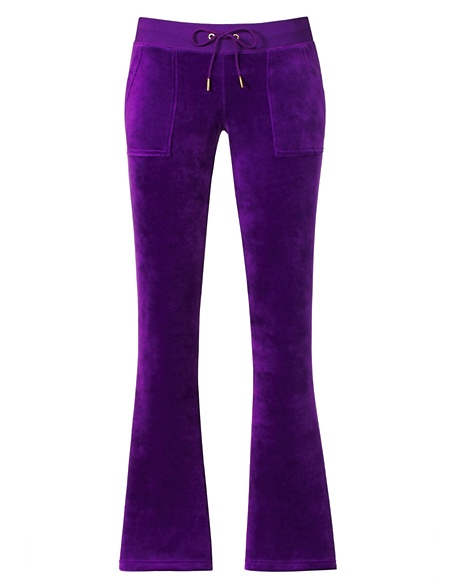 JUICY COUTURE PANT BOOTCUT IN JBLING VELOUR Cassis