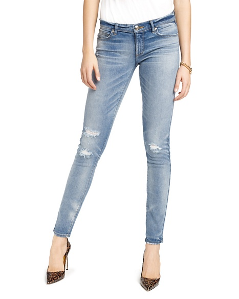 JUICY COUTURE JEAN DISTRESSED SKINNY Smith Wash