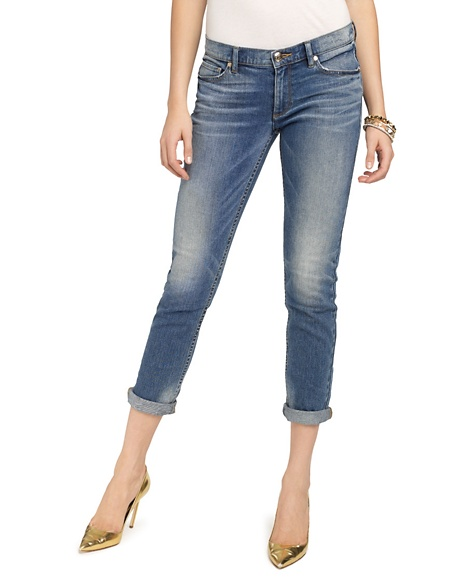 JUICY COUTURE JEAN STRAIGHT ROLLED Elysian