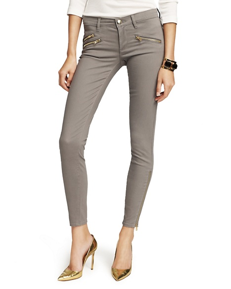 JUICY COUTURE JEAN WOMEN ZIPPERED SKINNY Top Hat