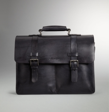 Kenneth Cole Collection Raw-Edge Portfolio Bag GREY