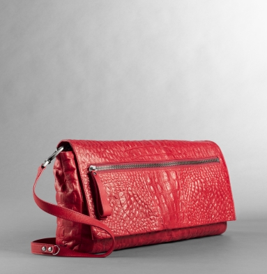 Kenneth Cole New York Zip It To Me Clutch RED