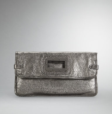 Kenneth Cole New York Bolt It Out Clutch SILVER