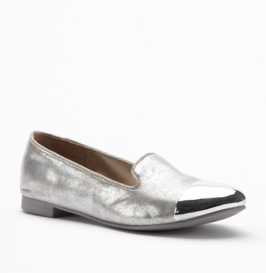 Kenneth Cole Reaction Low Shot Flat SILVER