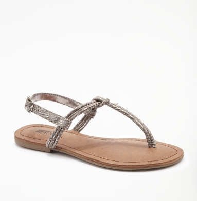 Kenneth Cole Reaction Coin It Sandal PEWTER